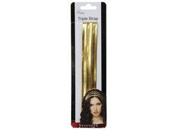 Mia Beauty Triple Strap Fashion Headband Gold ( Case of 48 )