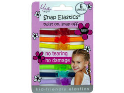 Snap Elastics Rainbow Hair Ties 6pk ( Case of 72 )