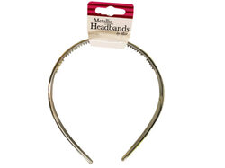 2 pc metallic headbands ( Case of 48 )