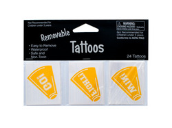 Removable Yellow Cheer Tattoos ( Case of 72 )