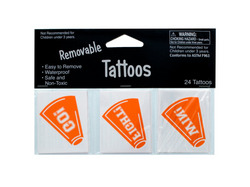 Removable Orange Cheer Tattoos ( Case of 72 )