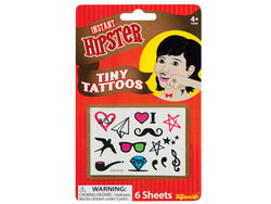 Hipster Tiny Temporary Finger Tattoos ( Case of 36 )