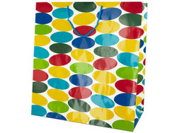 Extra Large Multi-Colored Dots Gift Bag ( Case of 24 )