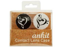 Heart Treble Print Contact Lens Case ( Case of 24 )