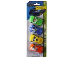 4 piece free wheel racers ( Case of 36 )