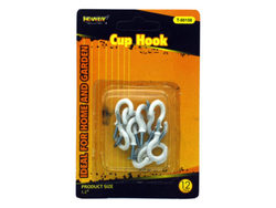 12 Pack White Cup Hooks ( Case of 72 )