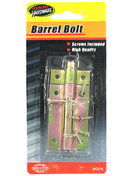Barrel Bolt with Screws ( Case of 48 )