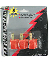 Grounding Plug-in Outlet Adapters ( Case of 24 )