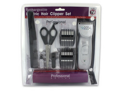 Rechargeable Hair Clipper Set with Accessories ( Case of 3 )