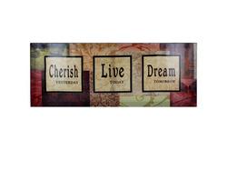 Cherish / Love / Dream Canvas Art ( Case of 8 )