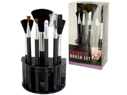 Cosmetic Brush Set With Stand ( Case of 4 )