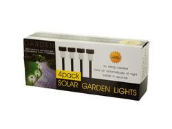 4-Piece Solar Powered Garden Lights Set ( Case of 2 )