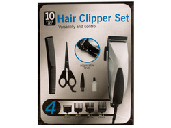 Hair Clipper Set with Precision Steel Blades ( Case of 2 )