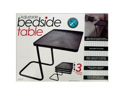Multi-Purpose Adjustable Bedside Table ( Case of 2 )