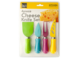 Easy Grip Multi-Colored Cheese Knife Set ( Case of 4 )