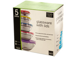 Nesting Glassware with Lids Set ( Case of 2 )