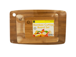 Bamboo Cutting Board Set ( Case of 3 )