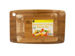 Bamboo Cutting Board Set ( Case of 4 )