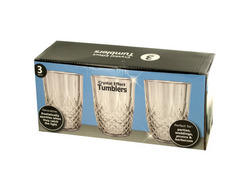 15 oz Crystal Effect Tumblers Set ( Case of 2 )