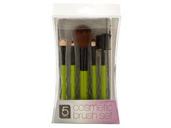 Cosmetic Brush Set with Mesh Zipper Case ( Case of 4 )