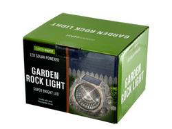Solar Powered LED Garden Rock Light ( Case of 4 )