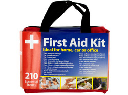 First Aid Kit in Easy Access Carrying Case ( Case of 3 )