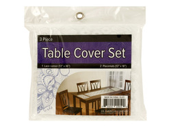 Lace Table Cover Set with Placemats ( Case of 4 )