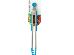 Blue Nylon-Tipped Metal Salad Tongs ( Case of 12 )