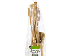 Bamboo Utensil Set with Container ( Case of 12 )