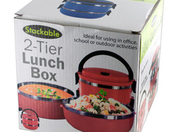 Stackable 2-Tier Lunch Box ( Case of 4 )
