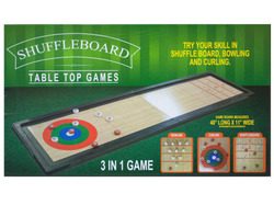 3 In 1 Shuffleboard Tabletop Game ( Case of 2 )