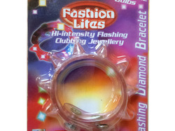 Flashing Diamond Light-Up Spiked Bracelet ( Case of 24 )