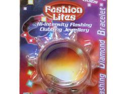 Flashing Diamond Light-Up Spiked Bracelet ( Case of 48 )