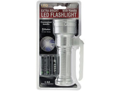 Extra Bright LED Flashlight with Handle ( Case of 8 )