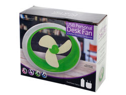 USB Personal Desk Fan ( Case of 4 )