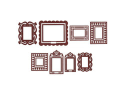Brown Stickr Peel & Stick Wall Frames Kit ( Case of 16 )