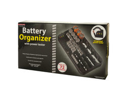 Battery Organizer with Power Tester ( Case of 2 )