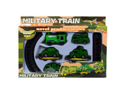 Battery Operated Military Train with Rails ( Case of 8 )