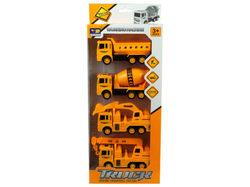 4 Pack Construction Trucks ( Case of 2 )