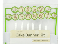 Baby Shower Cake Banner & Candles Kit ( Case of 48 )
