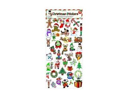 Category: Dropship Seasonal, SKU #SA222-144, Title: Christmas Stickers ( Case of 144 )