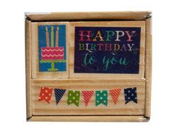 3pk happy birthday stamp set ( Case of 24 )