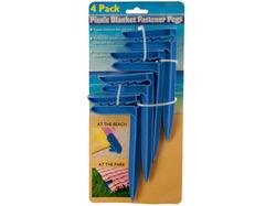 Picnic Blanket Fastener Pegs Set ( Case of 12 )