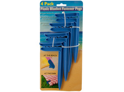 Picnic Blanket Fastener Pegs Set ( Case of 24 )