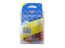 Colored Paper Clips ( Case of 48 )