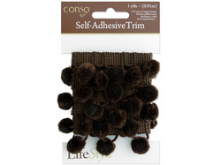Brown Self Adhesive Decorative Trim ( Case of 48 )