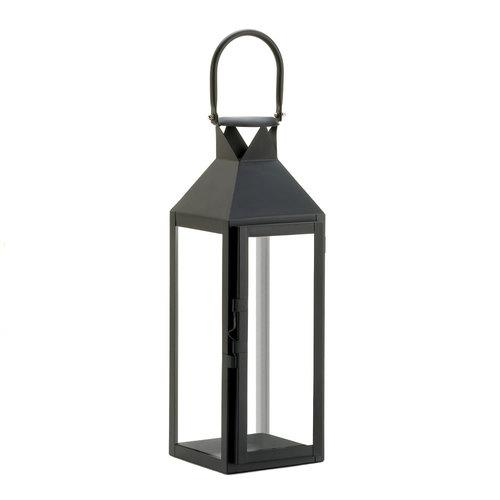 Black Manhattan Candle Lantern