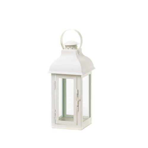 White Gable Lantern - Medium