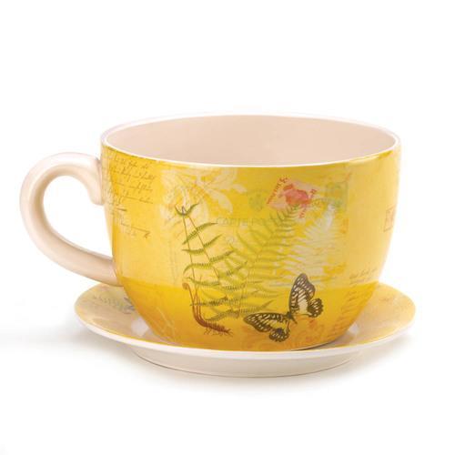 Garden Butterfly Teacup Planter (L)