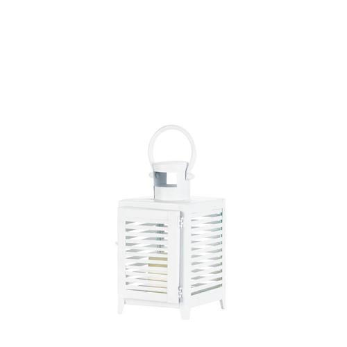 Small White Horizon Lantern
